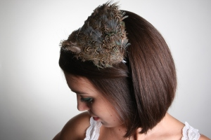Hand-made Rag Trade Vintage feather headband